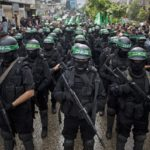 Hamas terrorists in the Gaza Strip are readying for the possibility of a massive Israeli strike. (AP/Khalil Hamra)