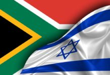 Israel and south African flag