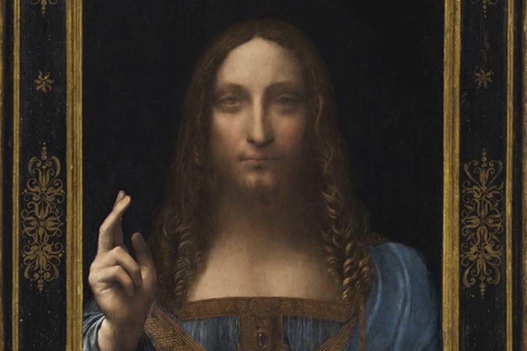 Salvator Mundi by Italian artist Leonardo da Vinci,