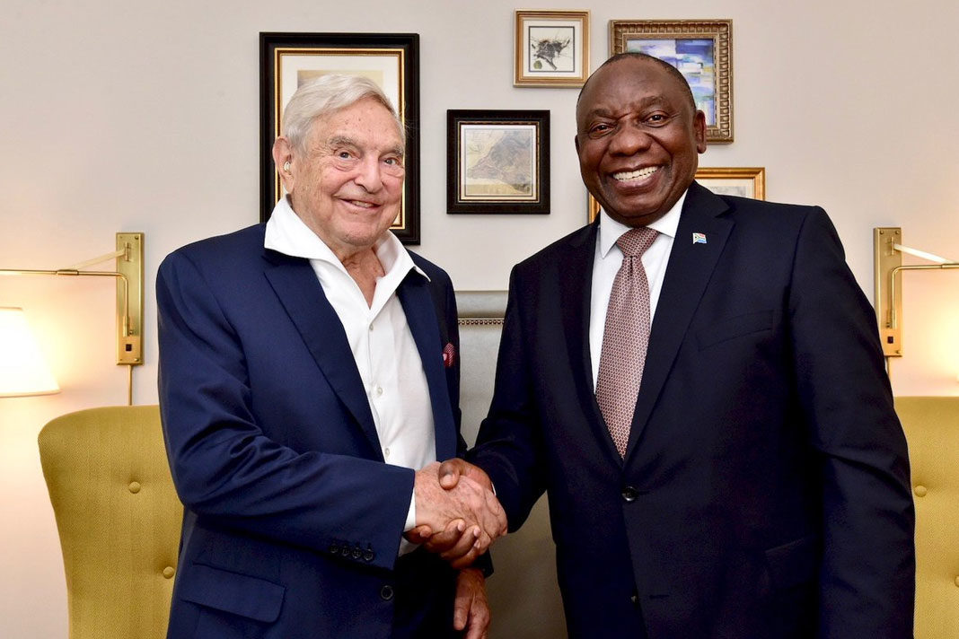 Image result for GEORGE SOROS RAMAPHOSA