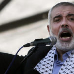 Hamas leader Ismail Haniyeh gives a speech during a rally in Gaza City, Aug. 27, 2014. (AP/Khalil Hamra)