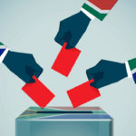 South African voting hands
