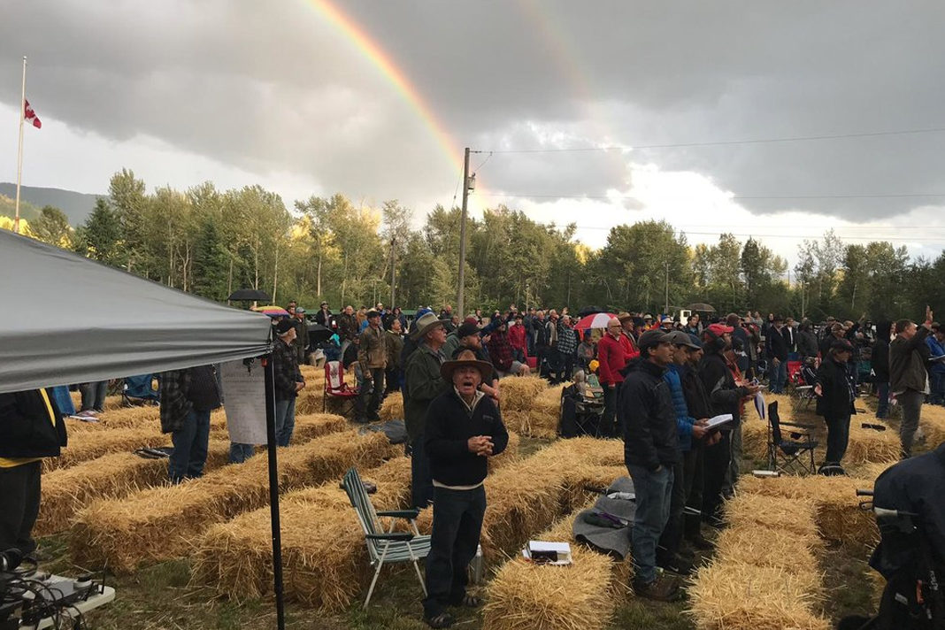 Double rainbows adorn the sky as men gather at the first Mighty Men Conference Canada last weekend.
