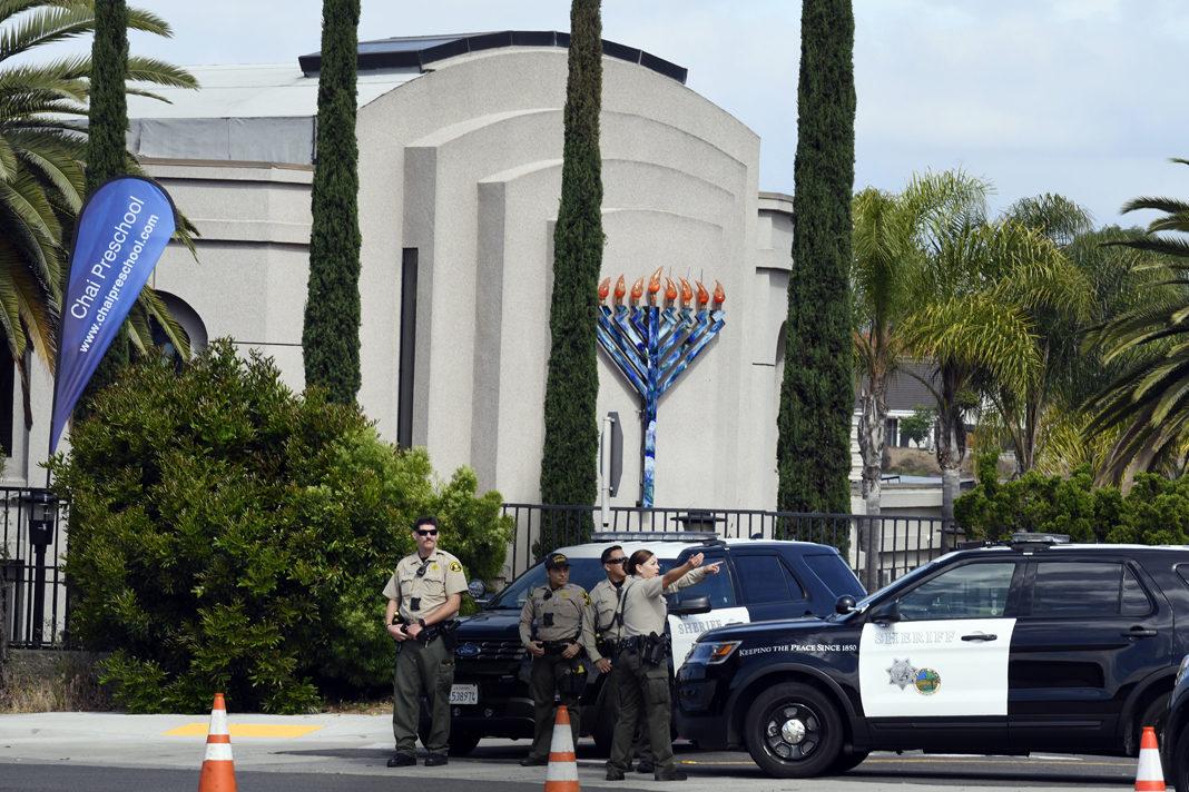 Police at Synagogue