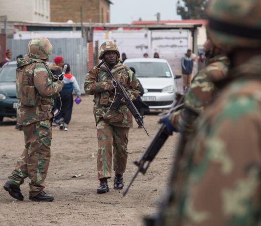 Army In Gang-Hit Cape Town Neighbourhoods