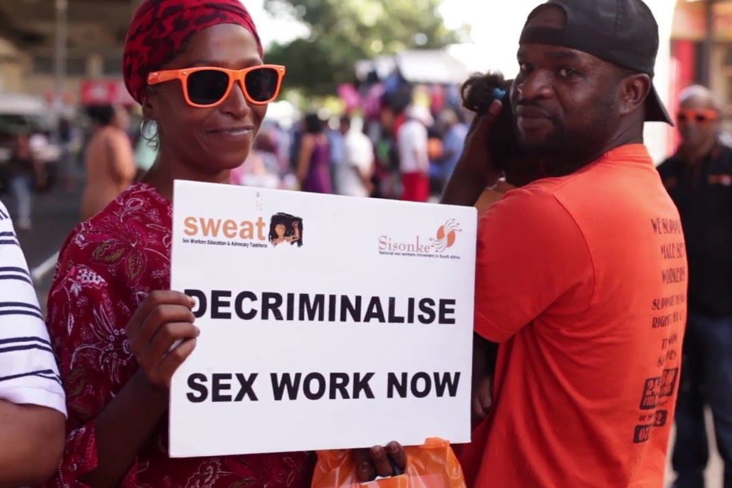 Protesters for Decriminalising Sex Work