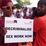 Protesters for Decriminalising Sex Work