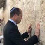Former Jerusalem Mayor Nir Barkat at the Wailing Wall