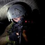 Soldier in tunnel