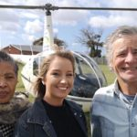 Just back from a prayer flight over PE yesterday, are, from the left, Joy Ntlebi and Vanita Connacher, both from Cape of Good Hope Bible College, and Andre Viljoen, of Gateway News.