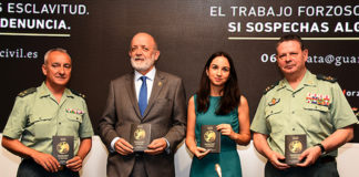 Presentation of the awareness campaign against human trafficking. / Guardia Civil