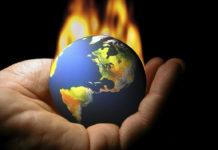 earth ball on fire
