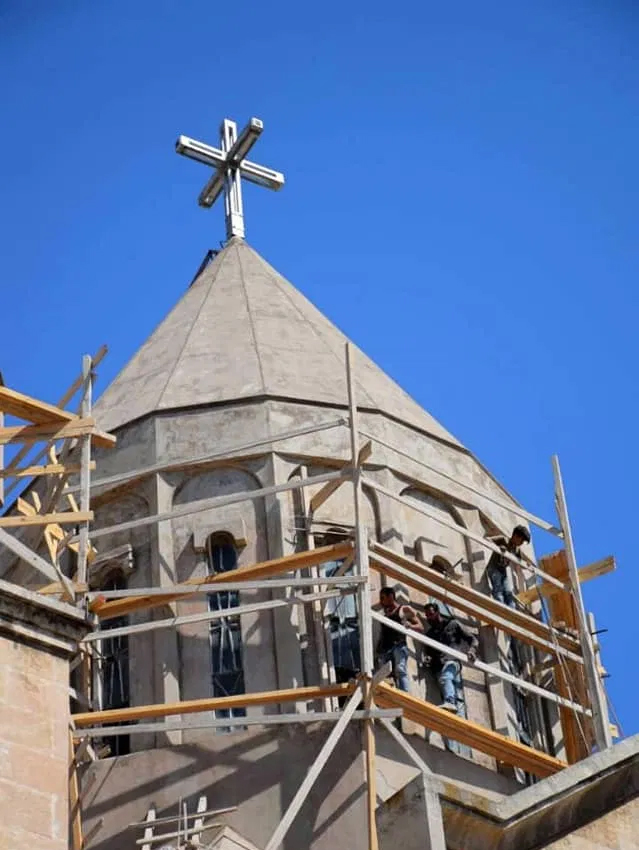 This image has an empty alt attribute; its file name is armenian-church-begins-rebuilding-in-aleppo2-1.jpg