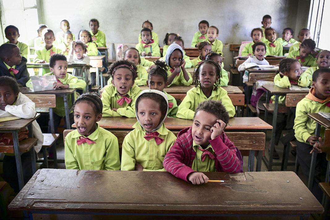 Pupils at class in Sewra Elementary School in Asmara