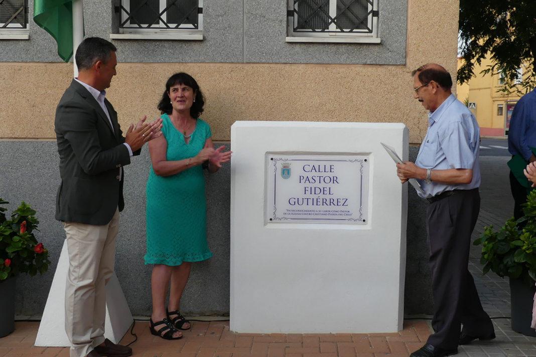 The Spanish city of Rota has dedicated a street to the evangelical pastor Fidel Gutiérrez. / Actualidad evangelica.
