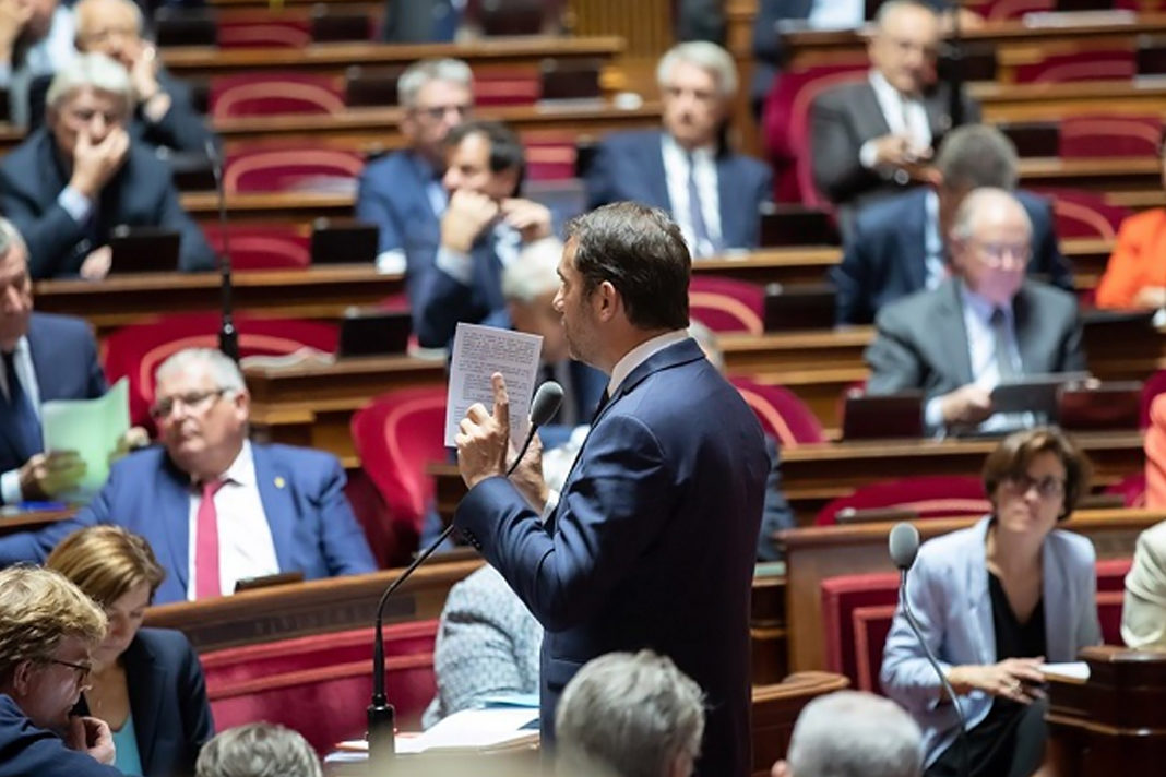 The French Minsiter of the Interior, Christophe Castaner, speaking at the Senate, October 2019. / Facebook Sénat