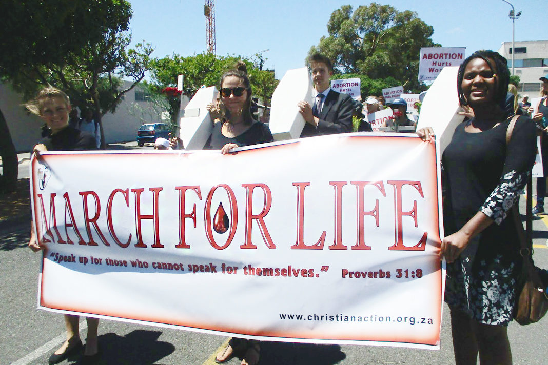 Abortion march cape town