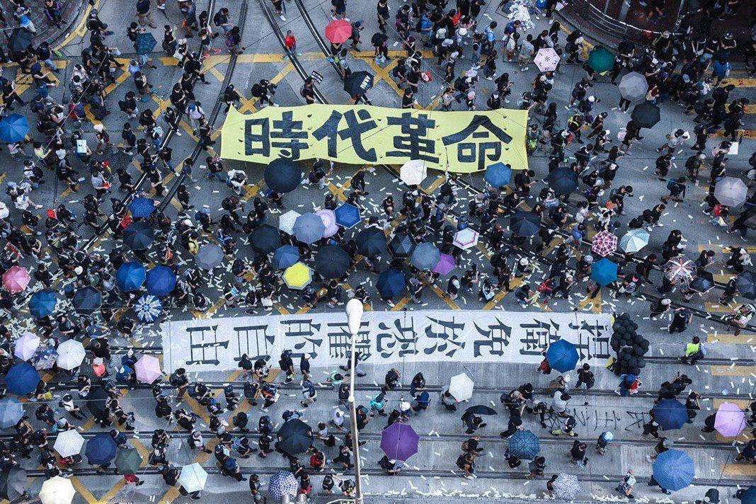 Protesters took the streets of Hong Kong. / @HongKongFP, Viola Kam