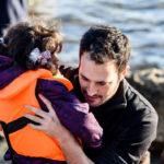 Yotam Politzer in Greece, helping Syrian refugees