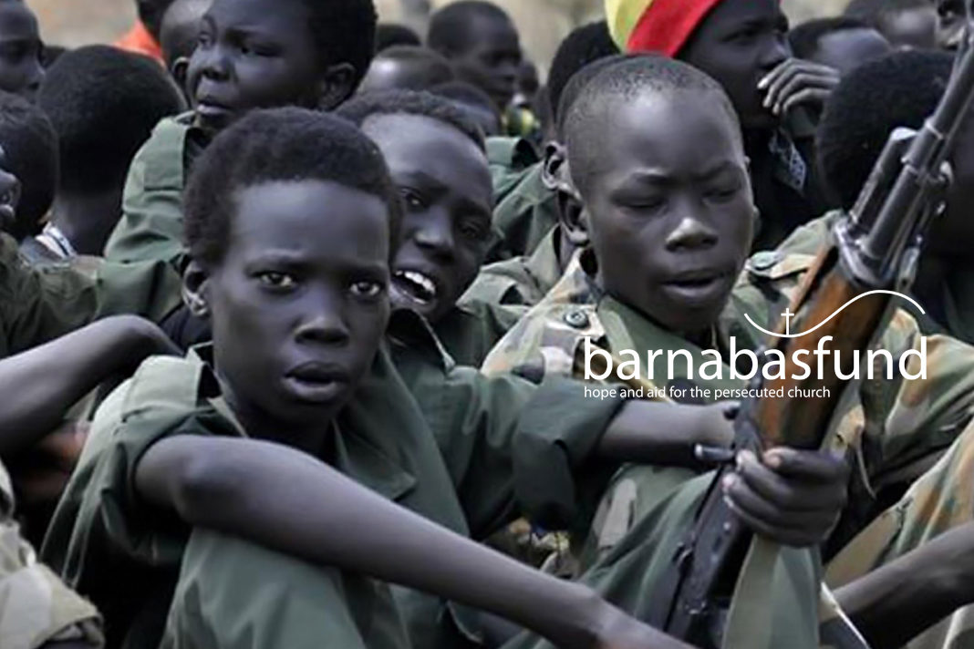 Child soldiers in Africa (for illustration purposes only)