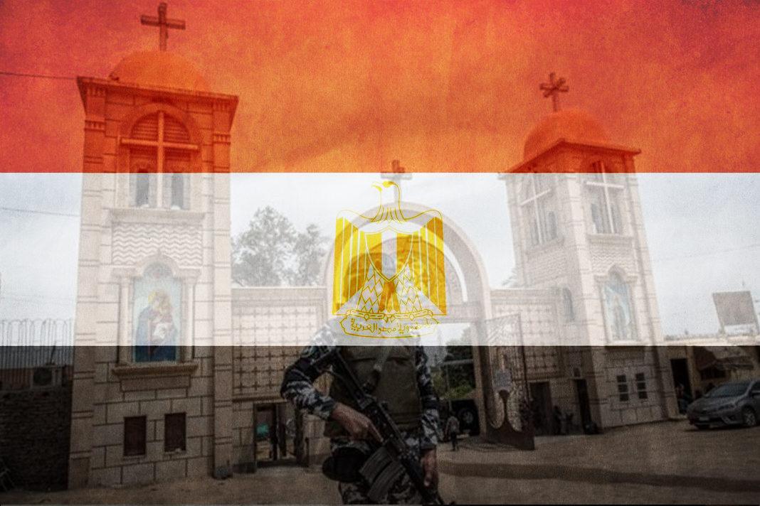 Egyptian Flag and Churches