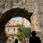 Orthodox Jews visit the Tomb of the Kings, a large underground burial complex dating to the first century B.C.E. (AP/Ariel Schalit)