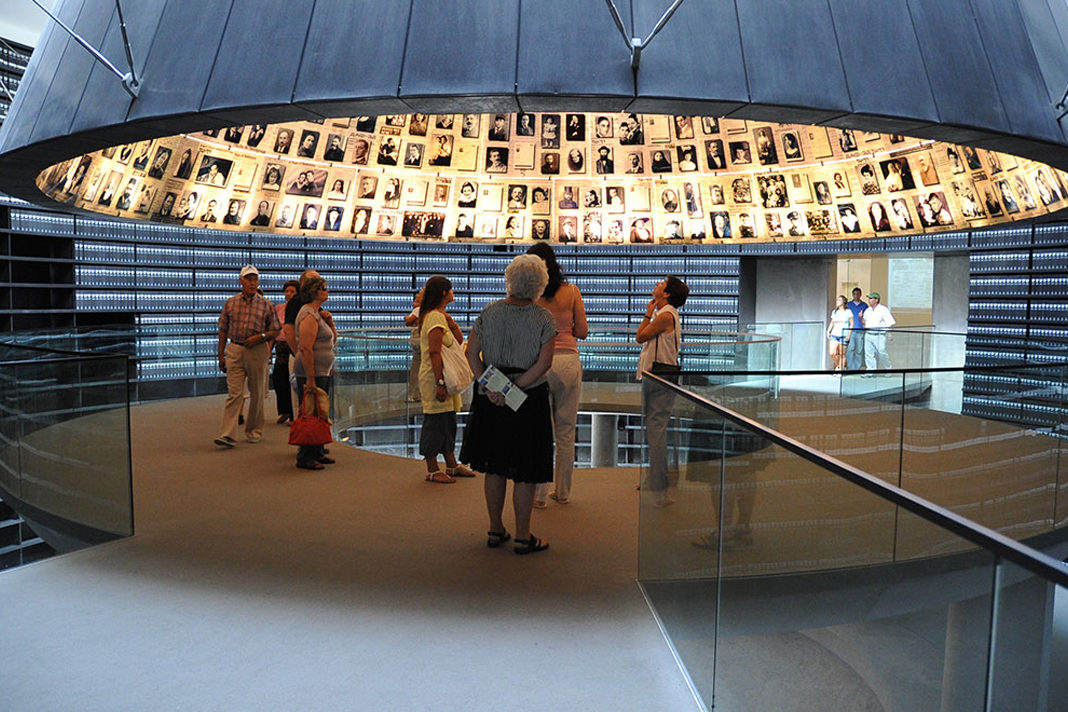 View of the Hall of Names, Holocaust Museum. Photo: EFE / Yossi-Ben-David.