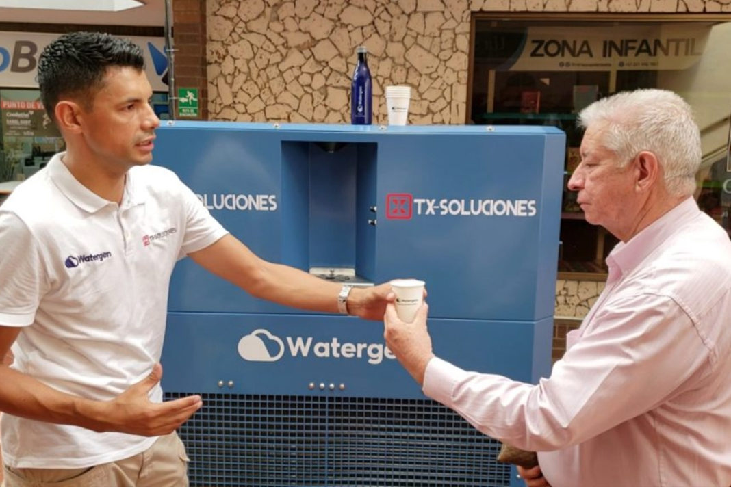 The Watergen GEN-M in use in northeast Colombia. Photo: courtesy
