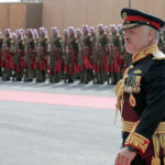 Jordan's King Abdullah II, reviews an honor guard, Nov. 10, 2019. (AP/Raad Adayleh)