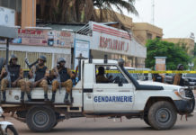 Security forces deploy to secure the area after an overnight attack on a restaurant in the Burkina Faso capital REUTERS/Hamany Daniex/File Photo