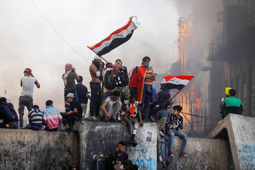 Iraq Protesters John Davison