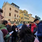 A group of evangelical Christians praying for Algeria outside the Algerian embassy in Rome, Italy, on December 14, 2019. / AEI