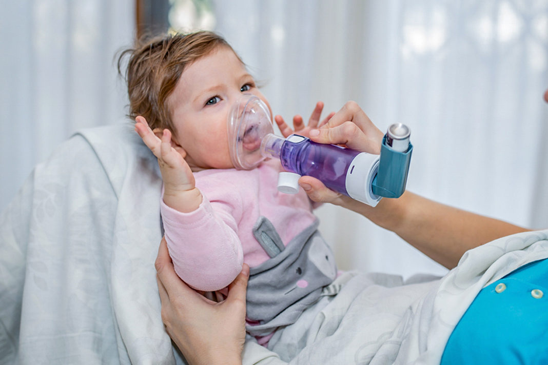 Toddler with asthma