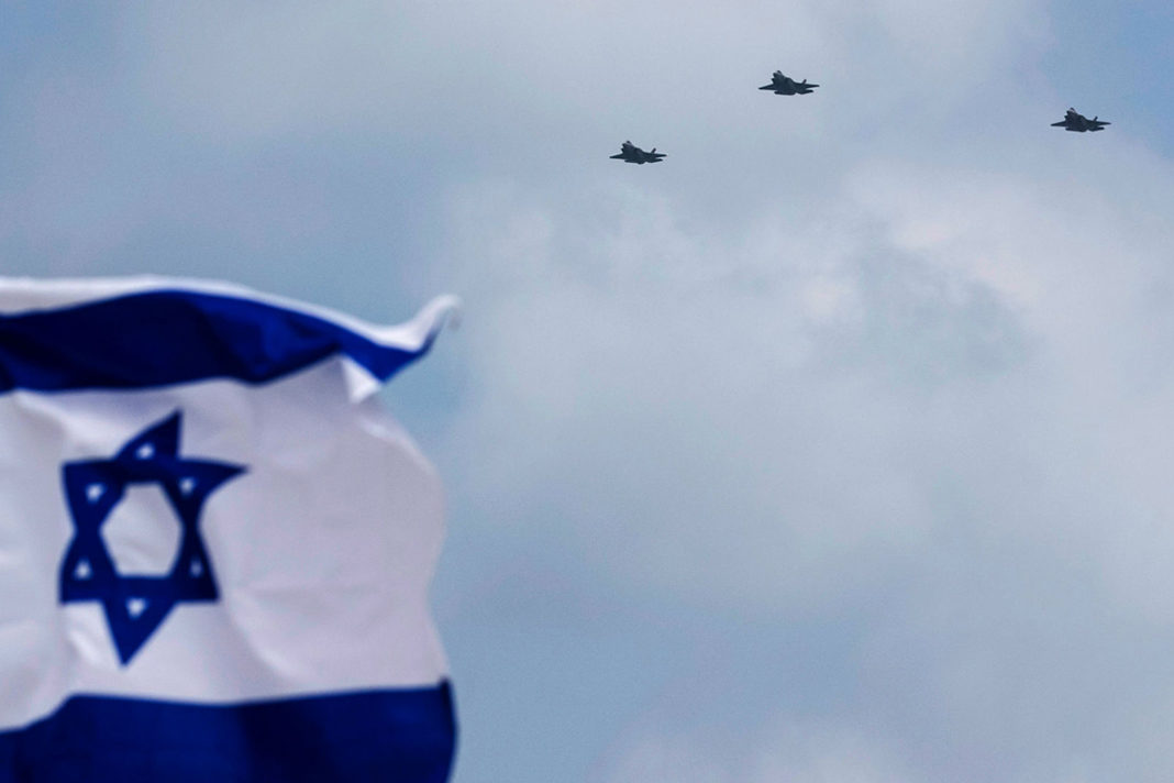 Israel flag with aircraft's. Hadas Parush / Flash90.