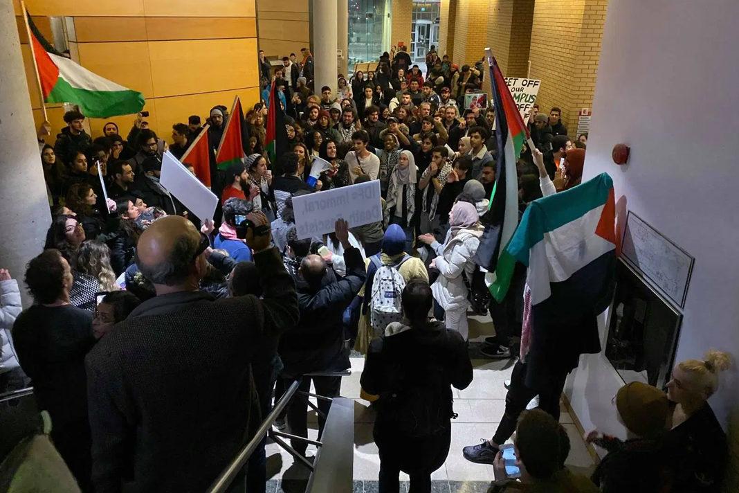 Anti-Israel protest at York University.