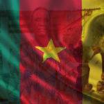 David Mokon with a Cameroon Flag