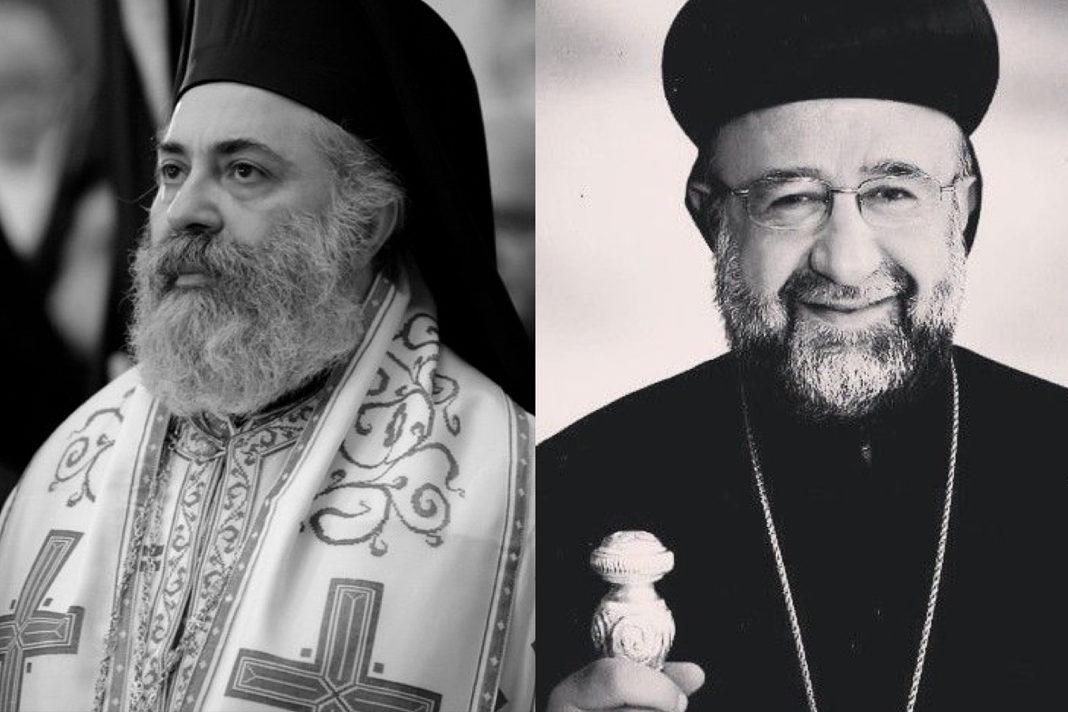 Archbishop Paul Yazigi (L) and Archbishop Youhanna Ibrahim (R)