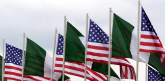 Nigeria and US Flags