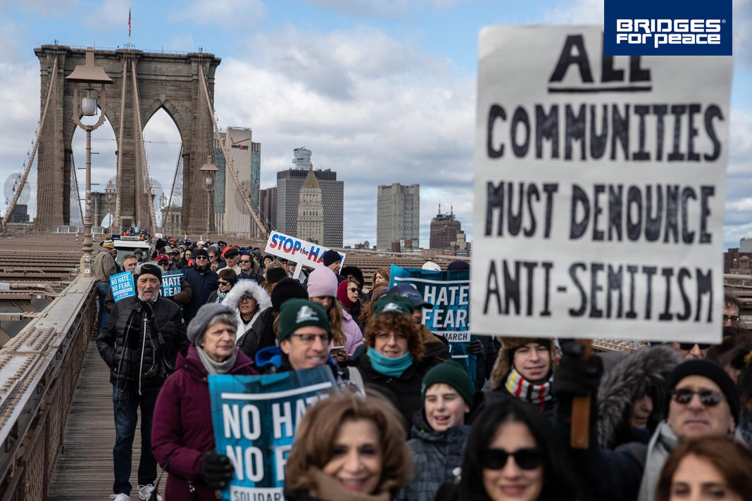 Tens of Thousands March against Anti-Semitism in Jerusalem, New York