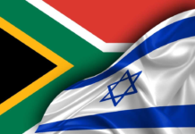 Israel and South Africa Flag