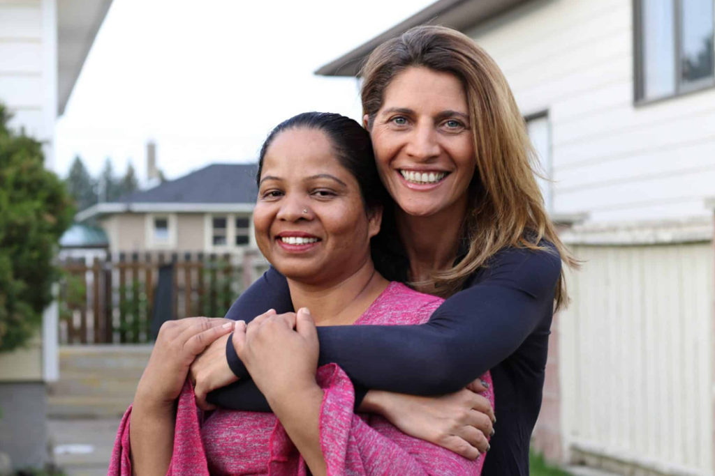 Asia Bibi together with journalist Anne-Isabelle Tollet, who wrote the book about Asia Bibi's time in captivity.