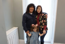 Reza, his wife Leigh and their four-year-old daughter, Bonnie.