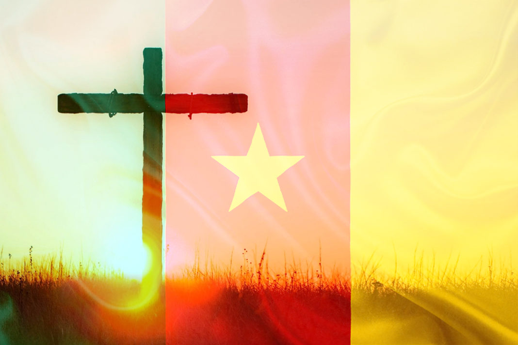 Cameroon Flag and cross