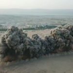 The IDF Combat Engineering Corps released photos on May 26, 2019, showing the simultaneous detonation of 900 landmines during demining work at the Land of the Monasteries near Jericho. (Photo courtesy of IDF.)
