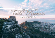 Intercession on Table Mountain 29 February