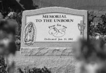 headstone for aborted baby