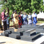 Visitors at Luwum's grave in Mucwini. Photo by John Semakula.