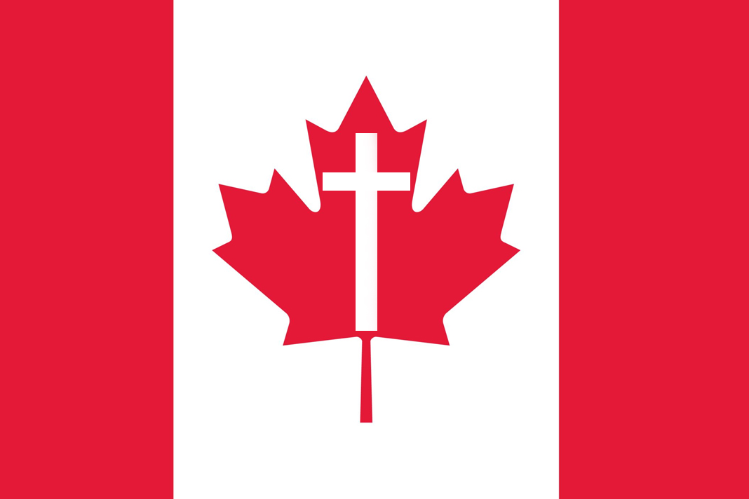 Canada Flag with cross
