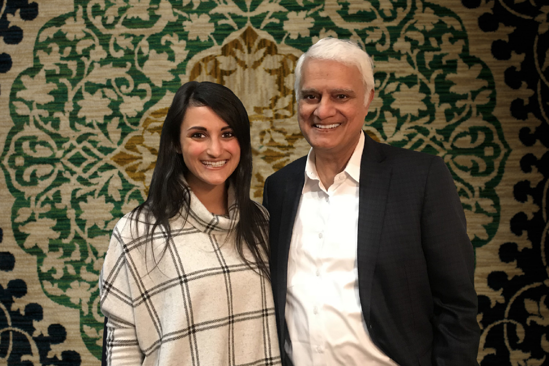 Ravi Zacharias pictured in SA with Gillian Fraser at the Festival of Thought conference