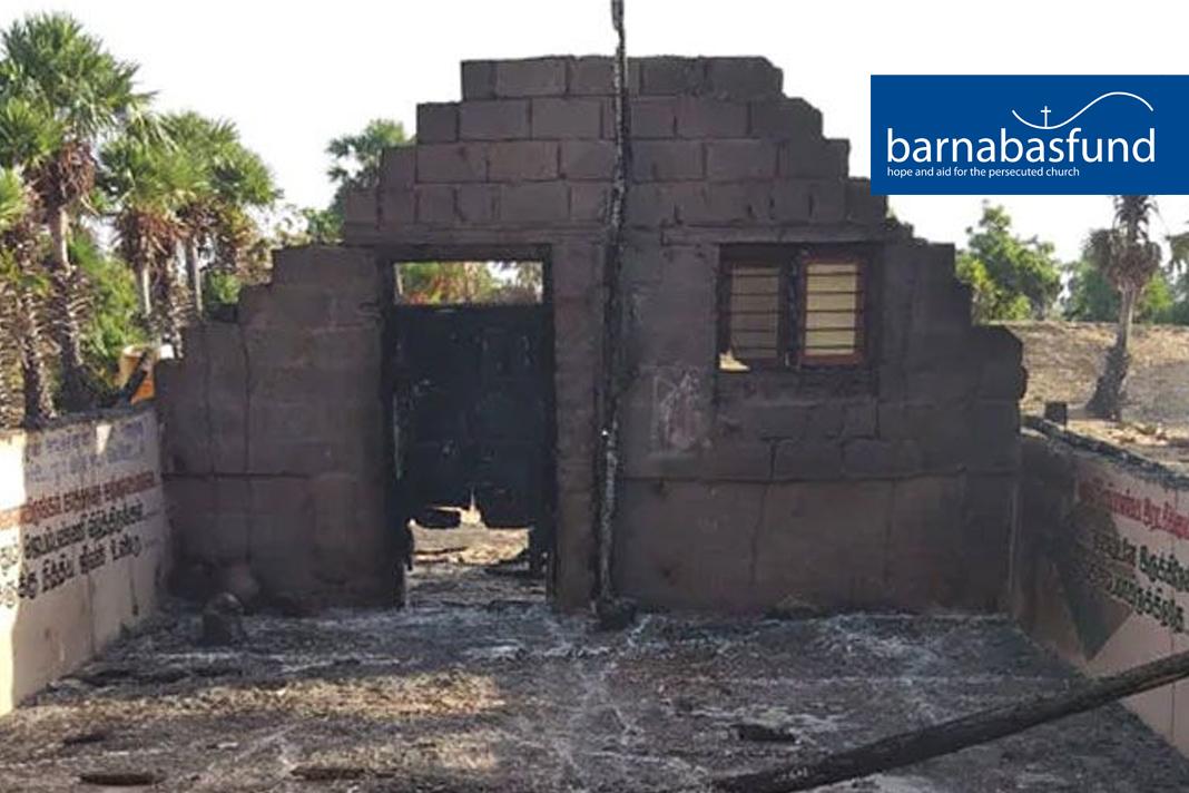 Burnt down Church